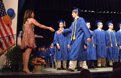 2010 graduates celebrate at Boonton, Montville, Mountain Lakes High Schools