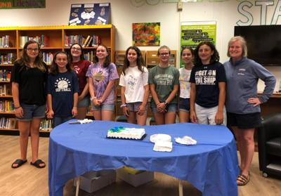 Old Turnpike Middle School softball team is recognized by the Tewksbury Board of Education