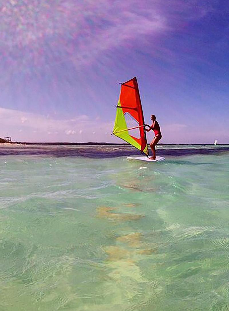 Wind surfing Bonaire waters