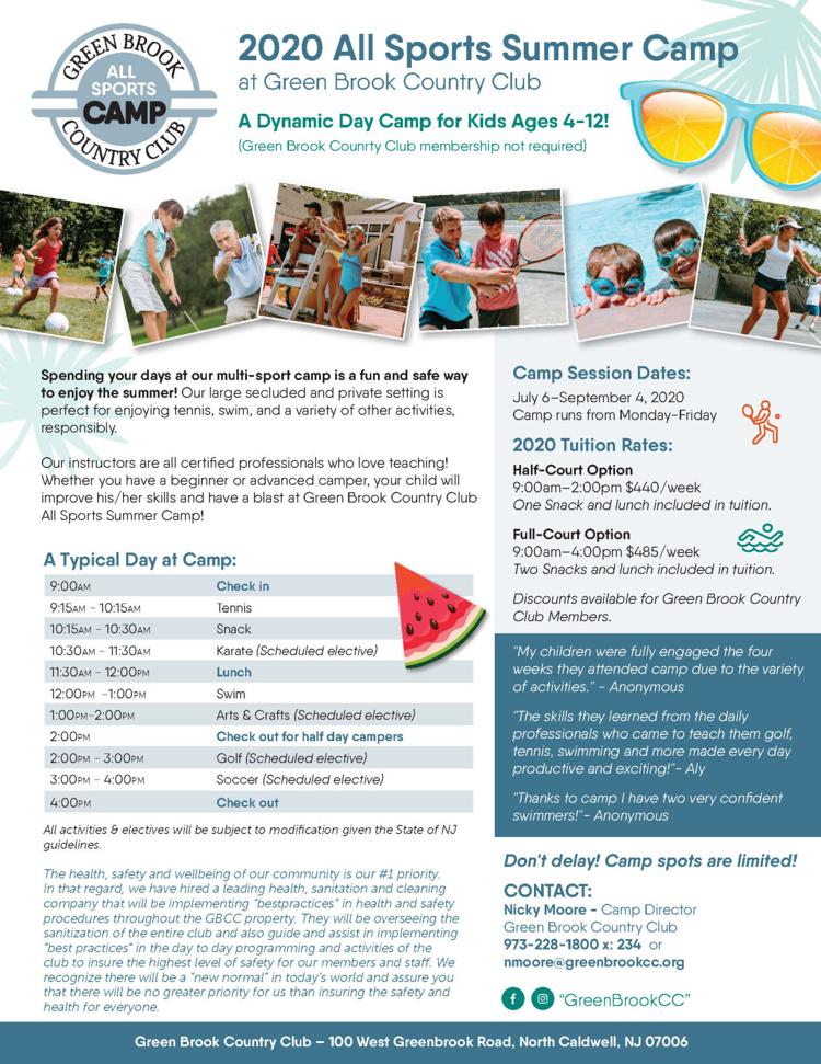 Green Brook All Sports Summer Camp Registration!