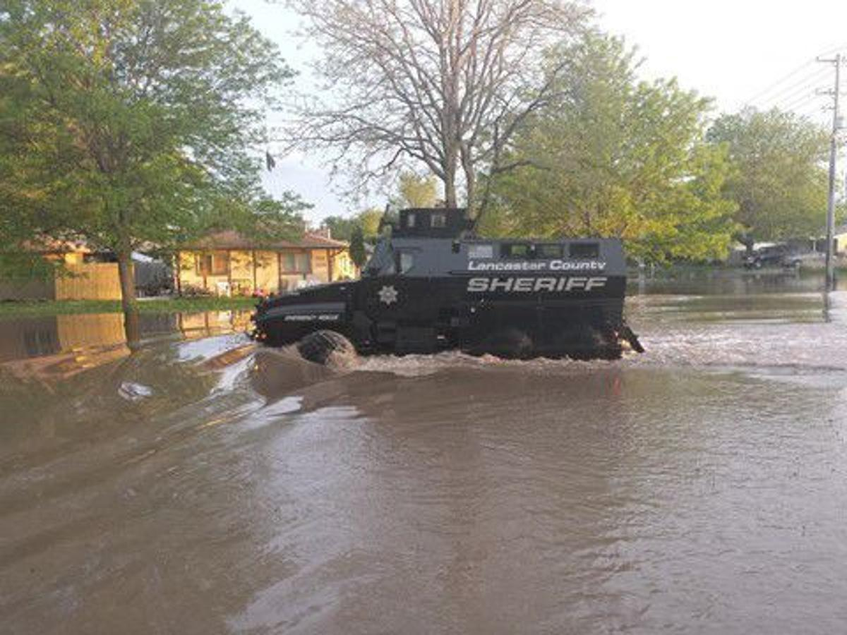MRAP Vehicle In Flooding