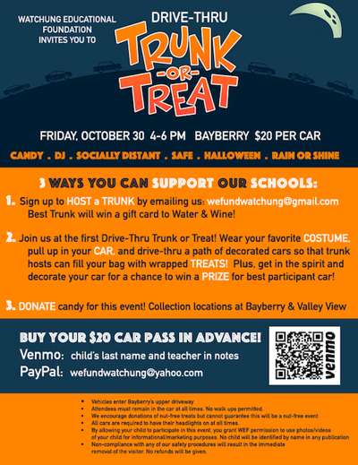 Trunk-or-treat to benefit Watchung schools Oct. 30