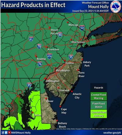 UPDATE: Flash flood watch in effect for Hunterdon County through Friday morning