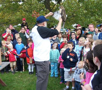 Hawk release is the highlight of 'Heads up for Hawks' festival in Long Hill