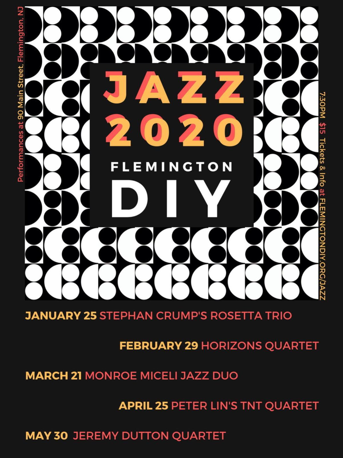 Flemington DIY presents Jazz Series starting Saturday, Jan. 25