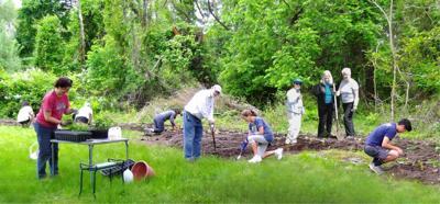 Volunteers plant new pollinator garden at Clinton's DeMott Park