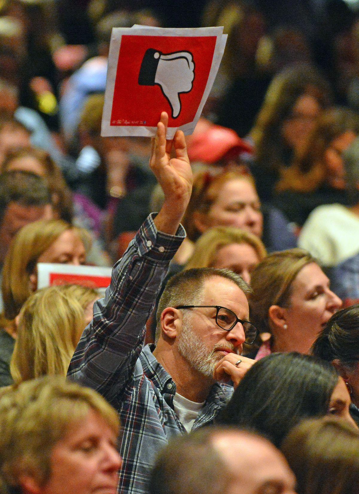 Cheers, boos and shouts greet Rep. Lance at Wednesday's town hall meeting