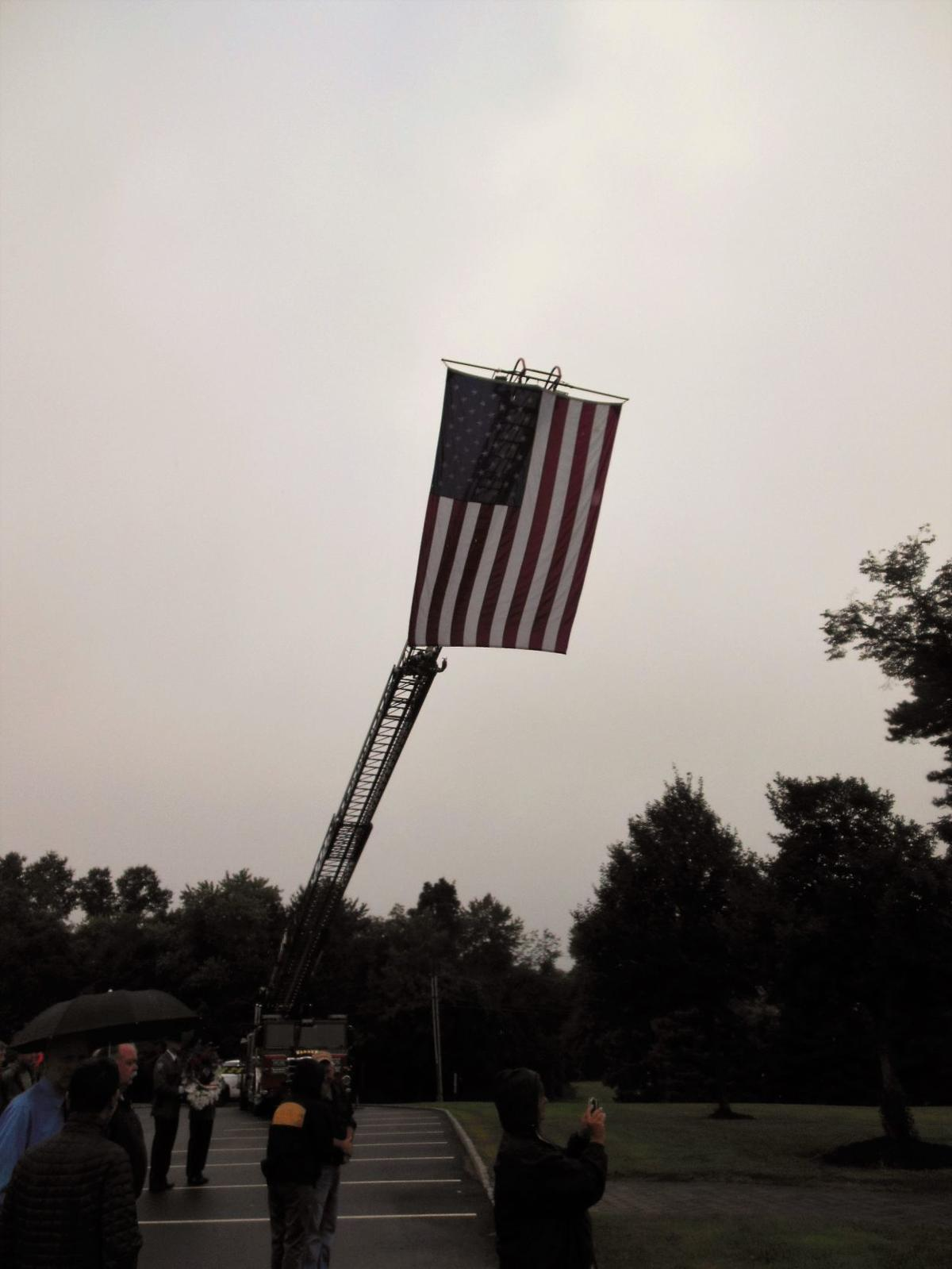 Large Flag on display, Warren