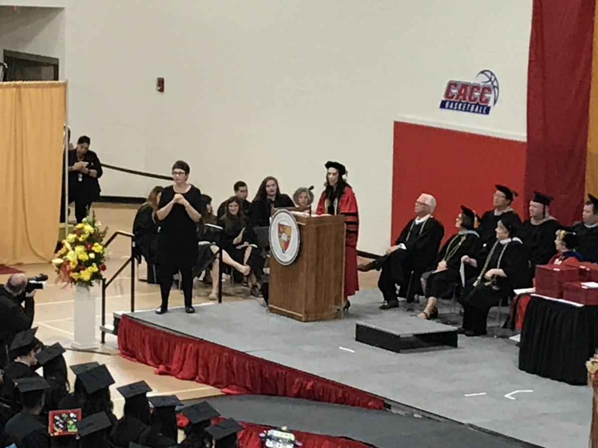 (VIDEO) Montville teacher recalls challenge in Caldwell University commencement speech