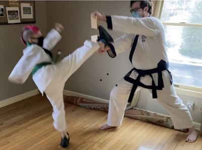 Long Hill karate students break boards as training continues amid pandemic