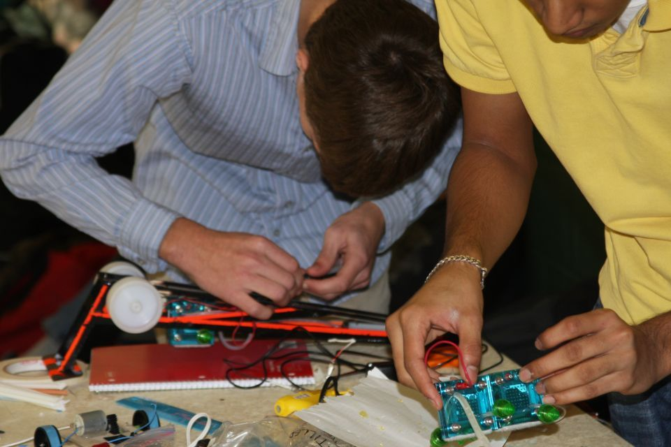 Students Work on Their Cars