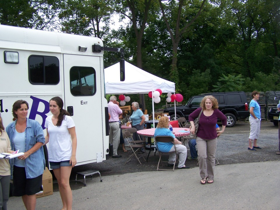 Business was brisk as more donors than anticipated showed up on a bright, sunny day.
