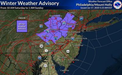 Winter Weather Advisory issued for Hunterdon County for weekend