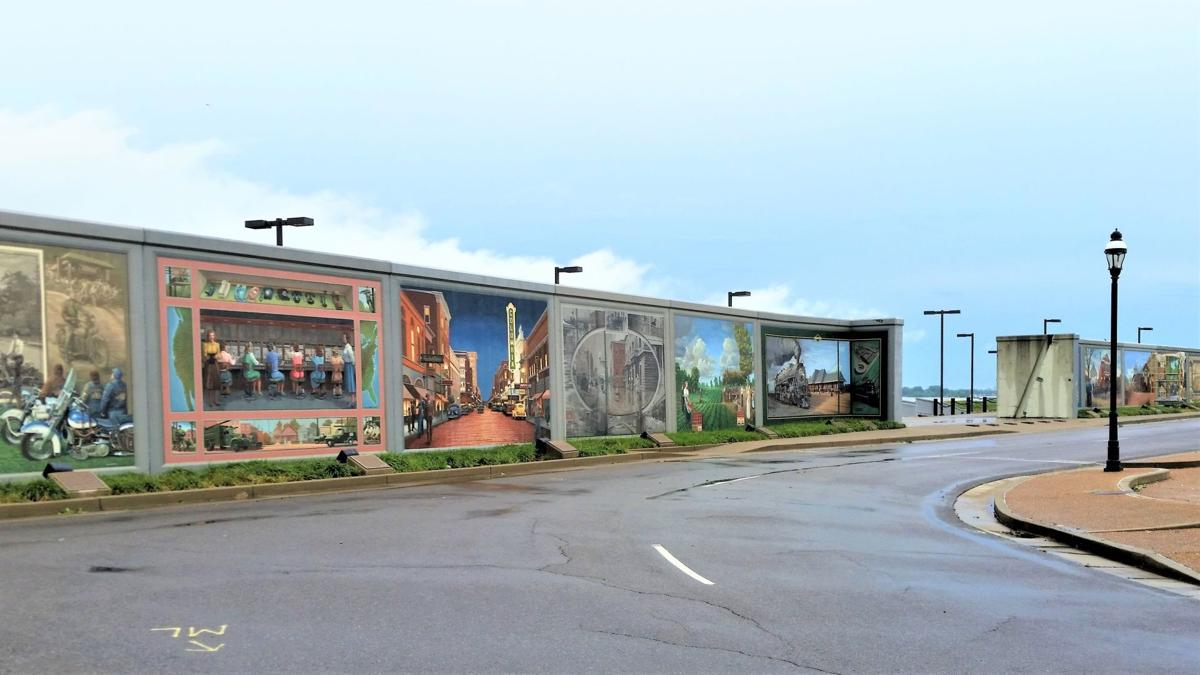 Decorated Flood Walls