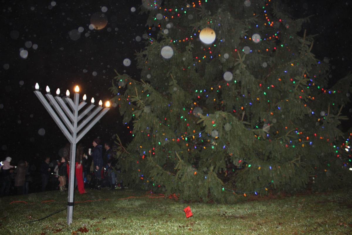 Menorah and Tree