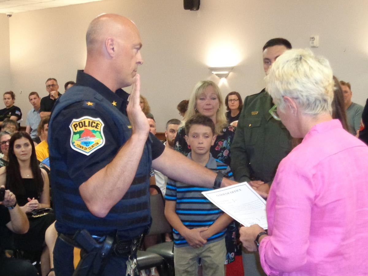 Clinton swears in new police chief, two new officers