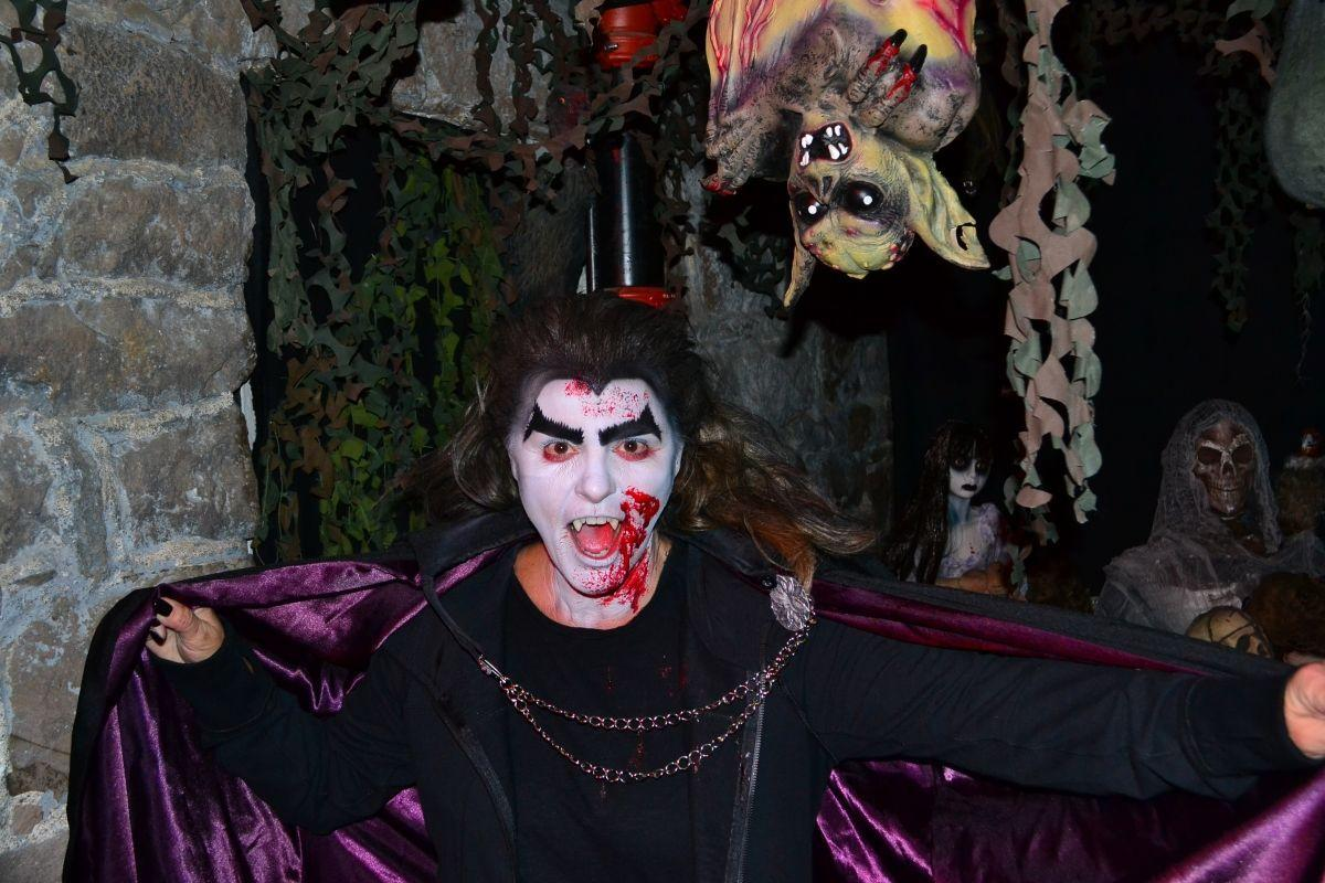 Witches, and goblins and creatures of the night invade Clinton's Haunted Village