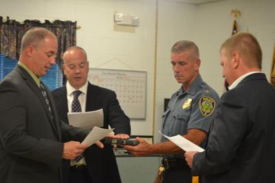 (VIDEO) Lebanon Township swears in two police officers for duty at Voorhees High school