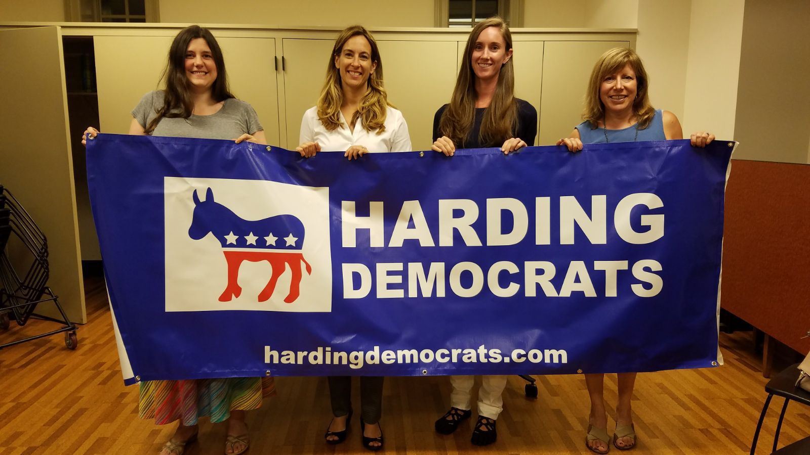 From left: Vice Chair Amanda Richardson, Sherrill and Township Committee candidates Kate Barry and Rhonda Allen