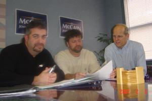 Jones hosts McCain drive