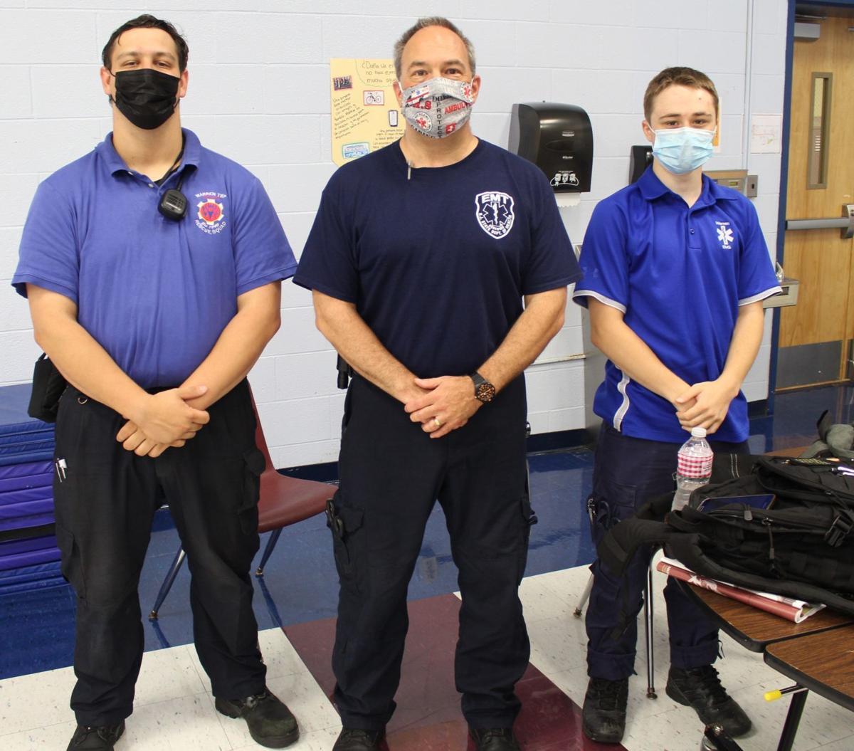 3. Anthony Levine, Ward Scheiderman and Ryan Presgraves from the Warren Township Volunteer Rescue Squad.JPG