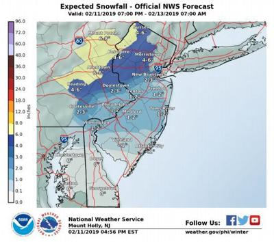 Winter storm warning in effect until midnight Tuesday, Feb. 12