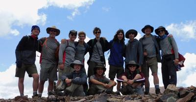 Troop 25 Boy Scouts on Mount Baldy (12,441 feet) in Cimarron, New Mexico.