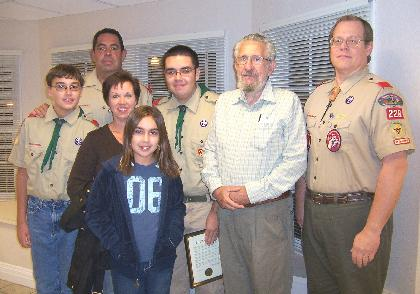 Eagle Scout candidate