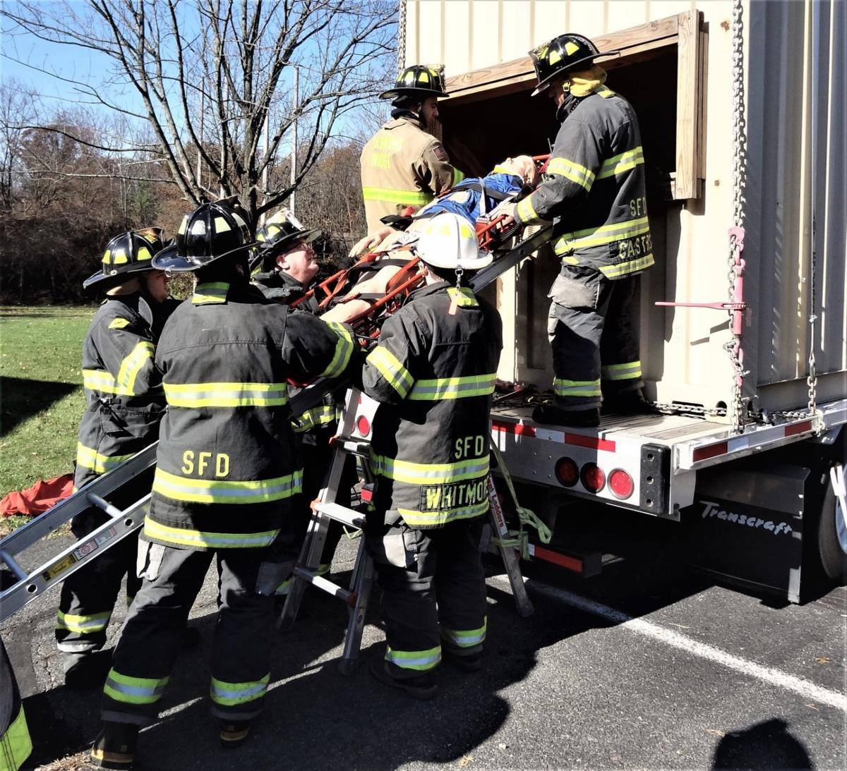Stirling Fire participates in specialized passenger train rescue training