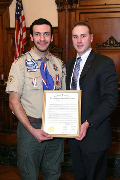 Eagle Scout honored