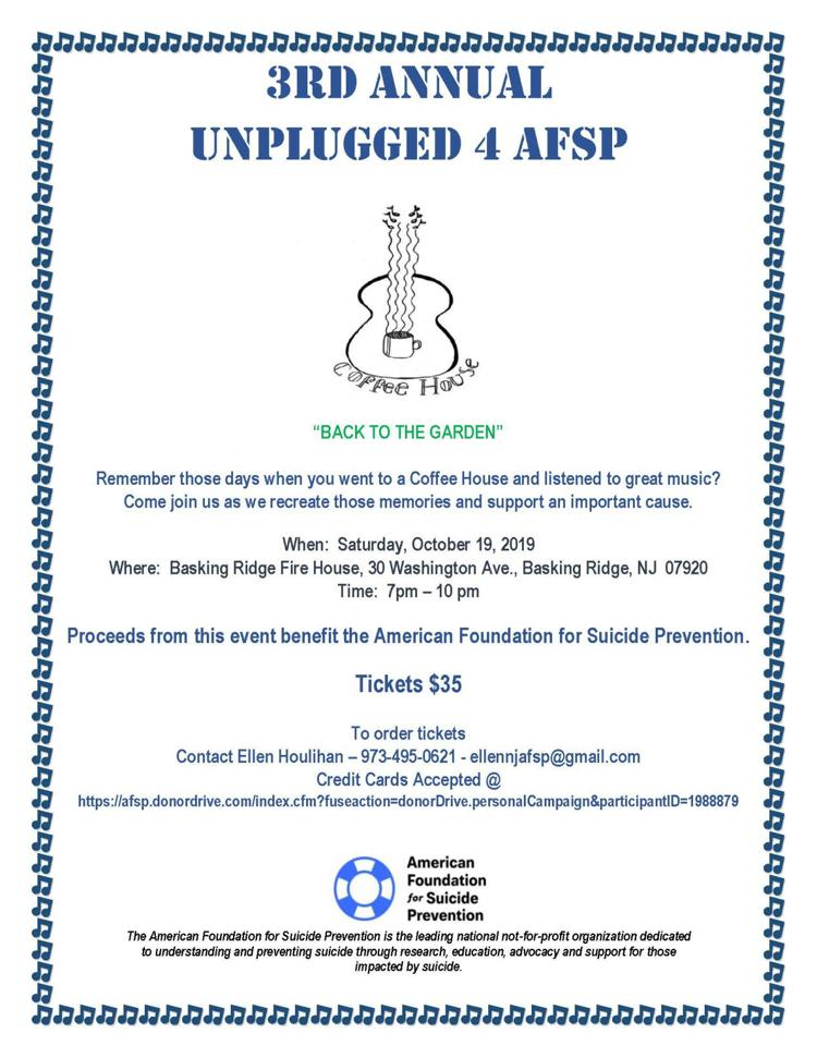 3rd Annual Unplugged 4 AFSP Flyer