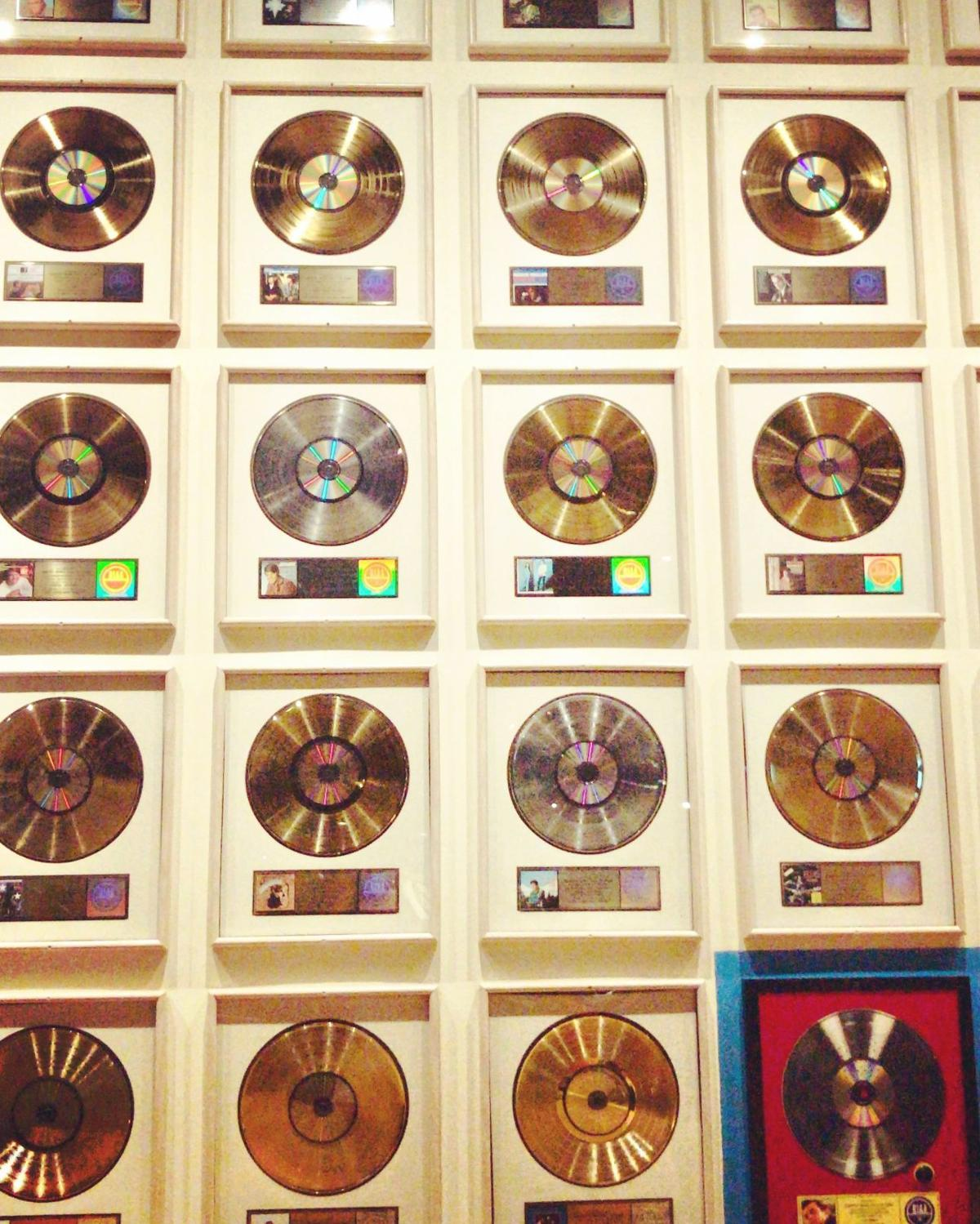 Gold Records At  Country Music Hall of Fame