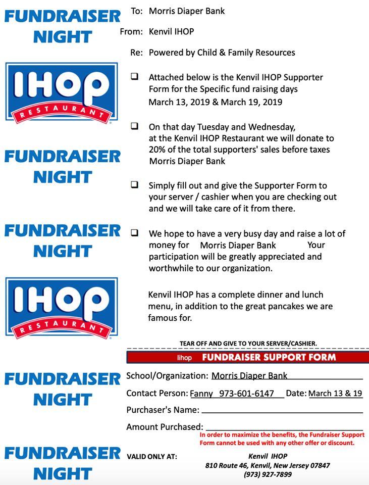 Kenvil IHOP Restaurant Supporter Form