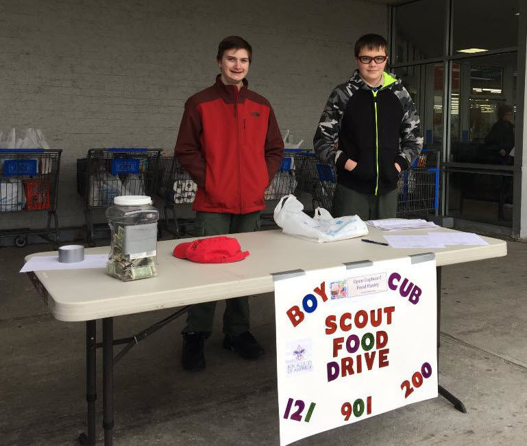 Clinton Township Boy Scouts collect more than 400 food bags for Open Cupboard