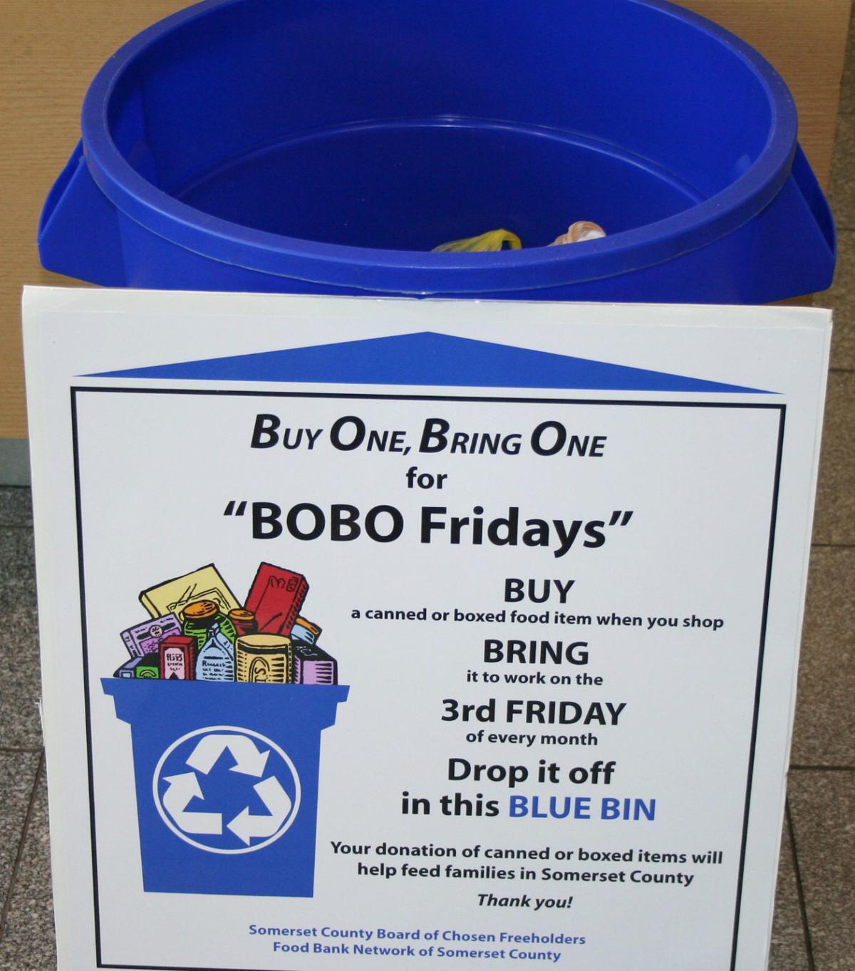 """BOBO Friday"" collection bin"