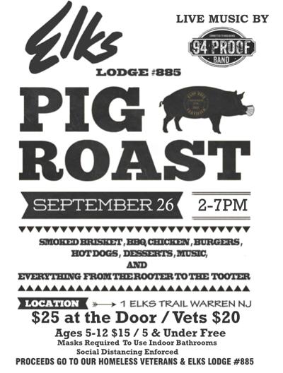 Pig roast this Saturday at Watchung Hills Elks Lodge