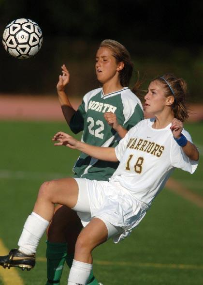Girls soccer squad wins sixth behind big second-half effort