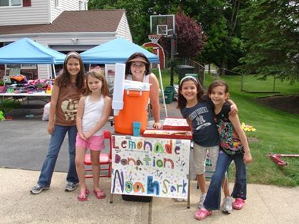 Lemonade stand aids Noah's Ark's homeless pets in Roxbury Township