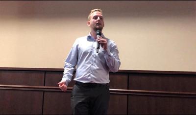 Jack Hartnett gives a tech update in Long Hill