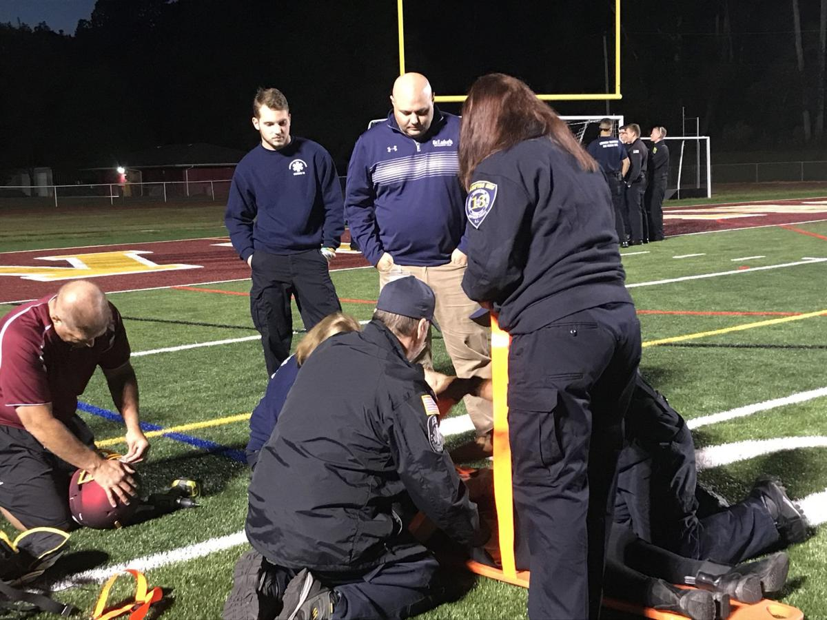 County first responders learn athletic rescue at Voorhees High