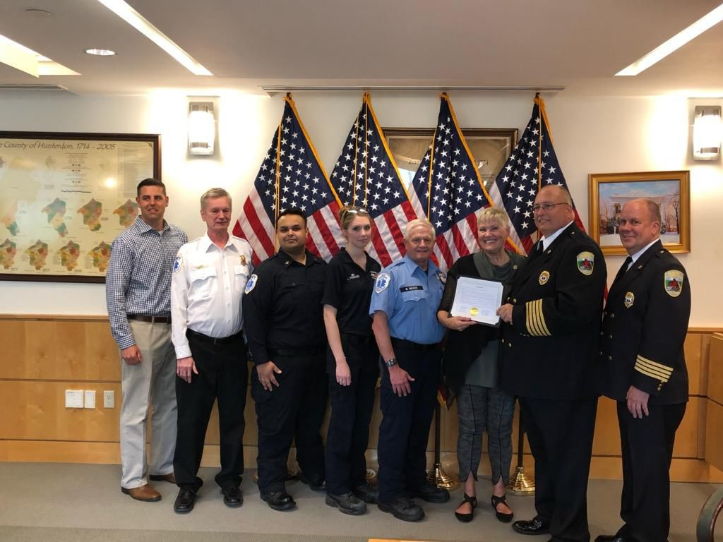 Emergency Medical Services Week recognized by Hunterdon freeholders