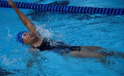 Brynn Burke swimming