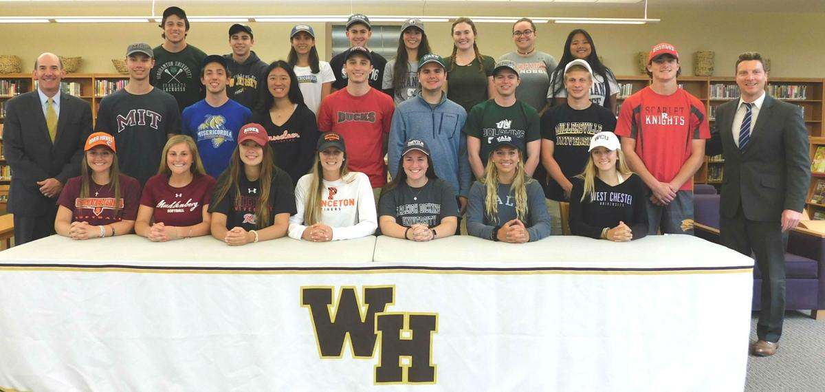 Class of 2018 student athletes at WHRHS gather for last group photo