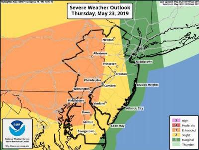 Severe thunderstorms, possible hail predicted for Hunterdon County, Thursday afternoon, evening, May 23