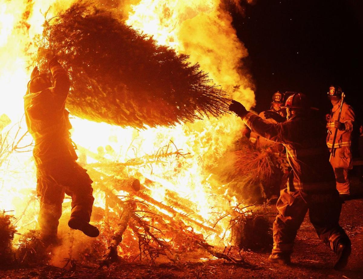 The annual Clinton bonfire has been snuffed out by the state... so far