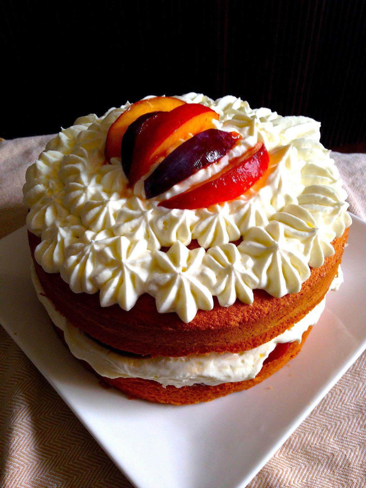Summer Chiffon Cake with Cream