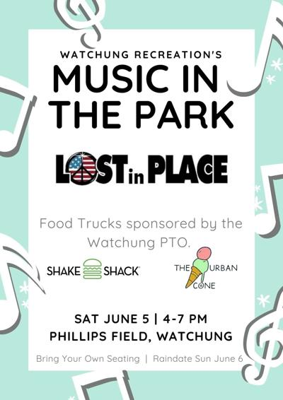 Music in the Park this Saturday in Watchung