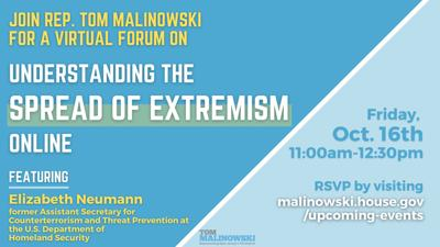 Rep. Malinowsk to host virtual forum on white nationalism, domestic extremism on Friday, Oct. 16