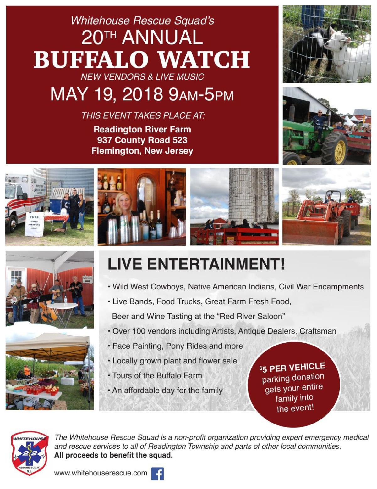 Whitehouse Rescue Squad S Buffalo Watch Postponed To Saturday June 9 Due To Weather Newjerseyhills Com