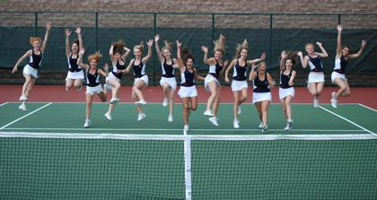 Girls tennis team clinches title; and gets its very own courts, finally